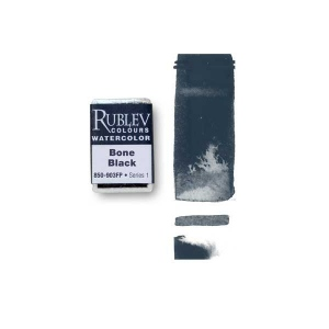 Natural Pigments Bone Black (Full Pan) - Color: Black