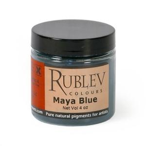 Natural Pigments Maya Blue (4 oz vol) - Color: Blue