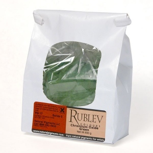 Natural Pigments Chromium Oxide Green 500 g - Color: Green