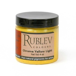 Natural Pigments Chrome Yellow Light (4 oz vol) - Color: Yellow