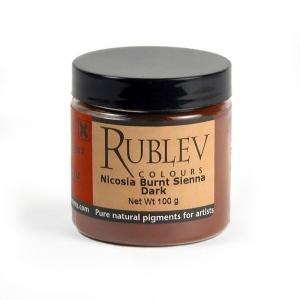 Natural Pigments Nicosia Burnt Sienna Dark 100 g - Color: Brown