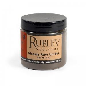 Natural Pigments Nicosia Raw Umber (4 oz vol) - Color: Brown