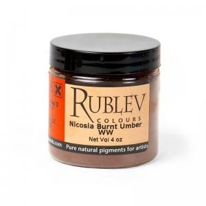Natural Pigments Nicosia Burnt Umber WW (4 oz vol) - Color: Brown