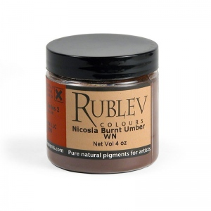 Natural Pigments Nicosia Burnt Umber WN (4 oz vol) - Color: Brown