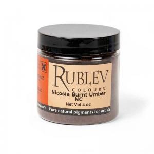 Natural Pigments Nicosia Burnt Umber NC (4 oz vol) - Color: Brown