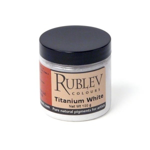 Natural Pigments Titanium Dioxide 100 g - Color: White