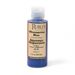 Natural Pigments Ultramarine Blue (Greenish Shade) 2 fl oz - Color: Blue