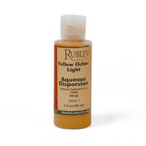 Natural Pigments Yellow Ocher Light 2 fl oz - Color: Yellow