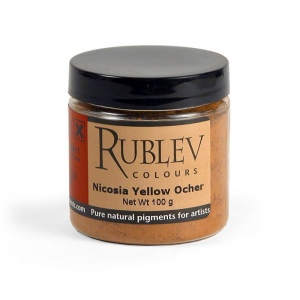 Natural Pigments Nicosia Yellow Ocher 100 g - Color: Yellow