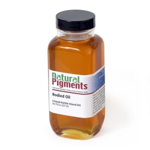 Natural Pigments Kettle-Bodied Oil (Stand Oil) 16 fl oz - Natural Source: Linseed, Linum usitatissimum