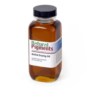 Natural Pigments Pale Drying Linseed Oil 16 fl oz - Natural Source: Linseed, Linum usitatissimum