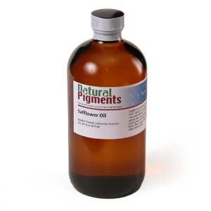 Natural Pigments Safflower Oil 16 fl oz - Source: Carthamus tinctorius
