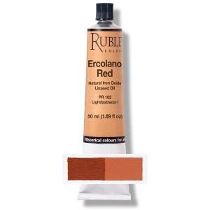 Natural Pigments Ercolano Red 130 ml - Color: Orange Red