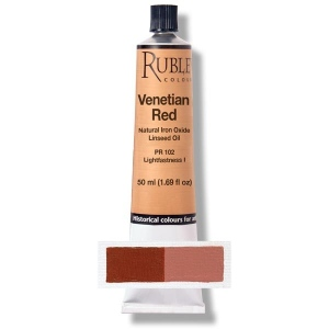 Natural Pigments Venetian Red 130 ml - Color: Deep Red