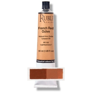 Natural Pigments French Red Ocher 50 ml