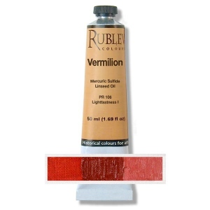 Natural Pigments Vermilion 50 ml - Color: Red
