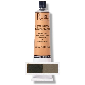Natural Pigments Cyprus Raw Umber Medium 130 ml