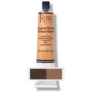 Natural Pigments Cyprus Burnt Umber Warm 130 ml