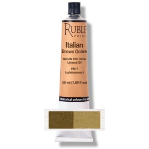 Natural Pigments Italian Brown Ocher 130 ml - Color: Brown