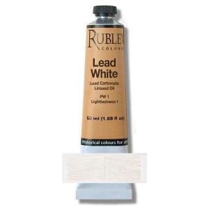 Natural Pigments Lead White 150 ml - Color: White