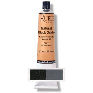 Natural Pigments Natural Black Oxide 50 ml - Color: Black