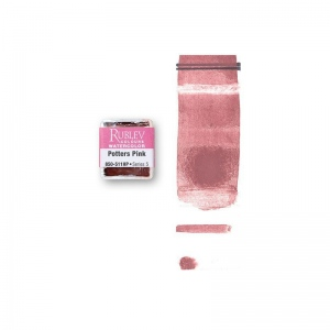 Natural Pigments Potters Pink (Half Pan) - Color: Pink