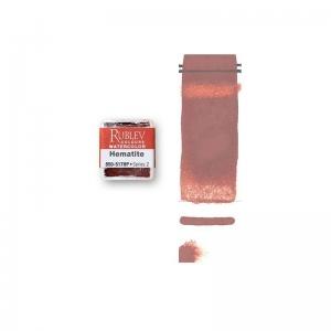 Natural Pigments Hematite (Half Pan) - Color: Red