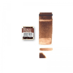 Natural Pigments Italian Burnt Umber Warm (Half Pan) - Color: Brown