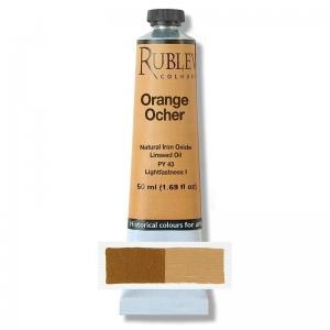 Natural Pigments Orange Ocher 130 ml - Color: Yellow