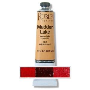 Natural Pigments Alizarin Crimson 50 ml - Color: Bluish Red