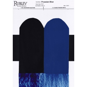 Natural Pigments Prussian Blue (MIlori Blue) 130 ml - Single Pigment: Prussian Blue; Binder: Linseed Oil; Color: Blue; Color Index: Pigment Blue 27 (77520); Opacity: Translucent