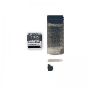 Natural Pigments Natural Black Oxide (Half Pan) - Color: Black