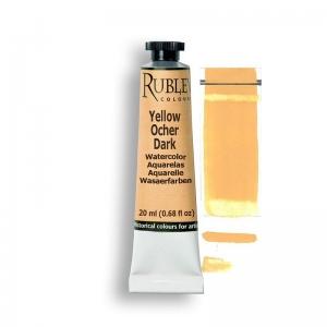 Natural Pigments Yellow Ocher Dark 15ml - Color: Yellow