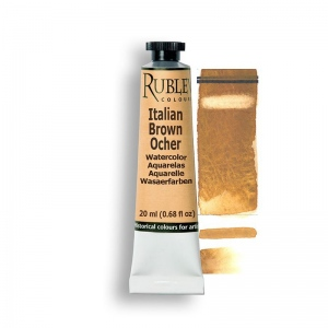 Natural Pigments Italian Brown Ocher 15ml - Color: Yellow