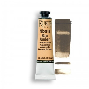 Natural Pigments Nicosia Raw Umber 15ml - Color: Brown
