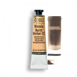 Natural Pigments Nicosia Burnt Umber CC 15ml - Color: Brown
