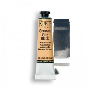 Natural Pigments German Vine Black 15ml - Color: Black