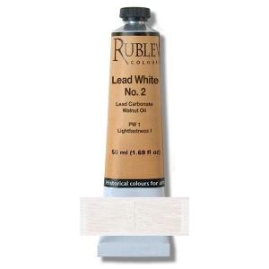 Natural Pigments Lead White No. 2 150 ml - Color: White