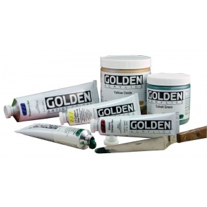 Golden® Heavy Body Acrylic 2 oz. Cadmium Yellow Medium Hue; Color: Yellow; Format: Tube; Size: 2 oz, 59 ml; Type: Acrylic; (model 0001554-2), price per tube
