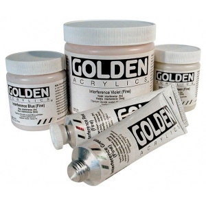Golden® Heavy Body Acrylic 2 oz. Interference Violet (fine); Color: Purple; Format: Tube; Size: 2 oz, 60 ml; Type: Acrylic; (model 0004070-2), price per tube