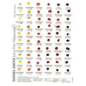 Daniel Smith Extra Fine™ Watercolor 238-Dot Color Chart; Color: Multi; Format: Card; Type: Watercolor; (model 001900482), price per each