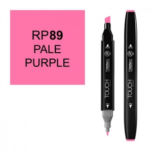 ShinHan Art TOUCH Twin Pale Purple Marker; Barrel Color: Black; Color: Purple; Double-Ended: Yes; Ink Type: Alcohol-Based; Refillable: Yes; Tip Type: Dual; (model 1110089-RP89), price per each