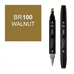 ShinHan Art TOUCH Twin Walnut Marker: Black, Brown, Double-Ended, Alcohol-Based, Refillable, Dual, (model 1110100-BR100), price per each
