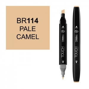 ShinHan Art TOUCH Twin Pale Camel Marker: Black, Brown, Double-Ended, Alcohol-Based, Refillable, Dual, (model 1110114-BR114), price per each