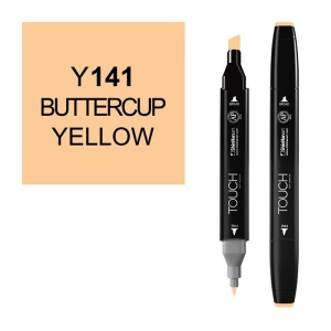 ShinHan Art TOUCH Twin Buttercup Yellow Marker: Black, Orange, Double-Ended, Alcohol-Based, Refillable, Dual, (model 1110141-Y141), price per each