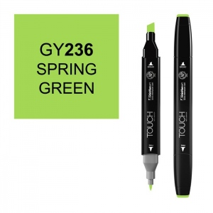 ShinHan Art TOUCH Twin Spring Green Marker: Black, Green, Double-Ended, Alcohol-Based, Refillable, Dual, (model 1110236-GY236), price per each