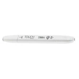 ShinHan Art TOUCH Twin Brush Colorless Blender Marker; Barrel Color: White; Color: Colorless; Double-Ended: Yes; Ink Type: Alcohol-Based; Refillable: Yes; Tip Type: Dual; (model 1210000-0), price per each