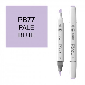 ShinHan Art TOUCH Twin Brush Pale Blue Marker: White, Blue, Double-Ended, Alcohol-Based, Refillable, Dual, (model 1210077-PB77), price per each