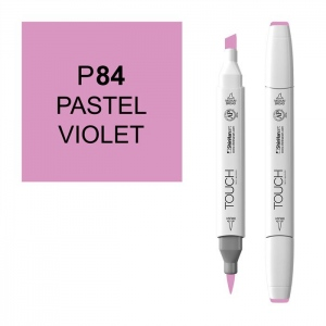 ShinHan Art TOUCH Twin Brush Pastel Violet Marker; Barrel Color: White; Color: Purple; Double-Ended: Yes; Ink Type: Alcohol-Based; Refillable: Yes; Tip Type: Dual; (model 1210084-P84), price per each