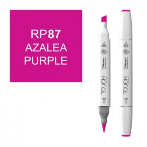 ShinHan Art TOUCH Twin Brush Azalea Purple Marker; Barrel Color: White; Color: Purple; Double-Ended: Yes; Ink Type: Alcohol-Based; Refillable: Yes; Tip Type: Dual; (model 1210087-RP87), price per each